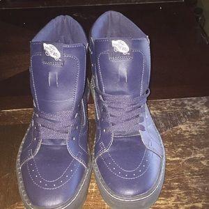 Navy Blue Sk8 hi leather vans